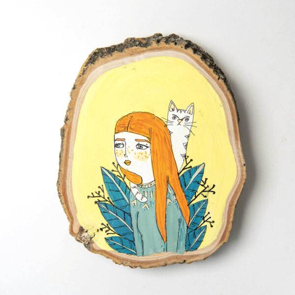 Duvar Panosu – Kedili Kız