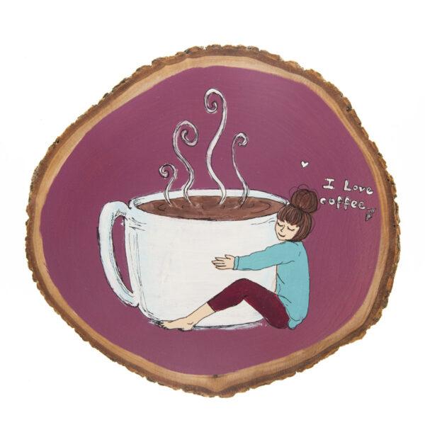 Duvar Panosu – I Love Coffee