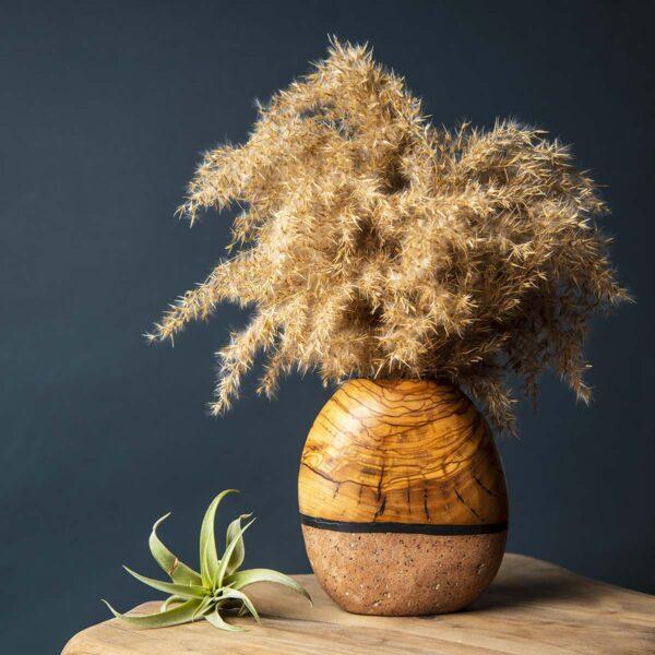 Doğal Taş & Ağaç Vazo