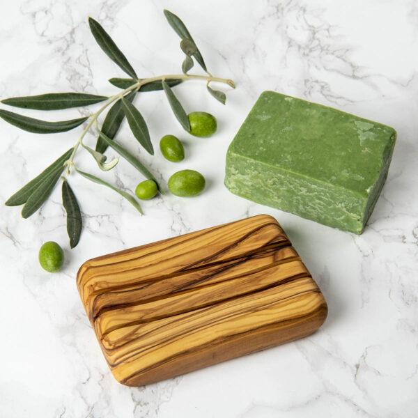 Ağaç Sabunluk – Zeytin – Sabun Hediyeli