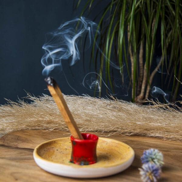 Seramik Tütsülük – Palo Santo Tütsü Hediyeli
