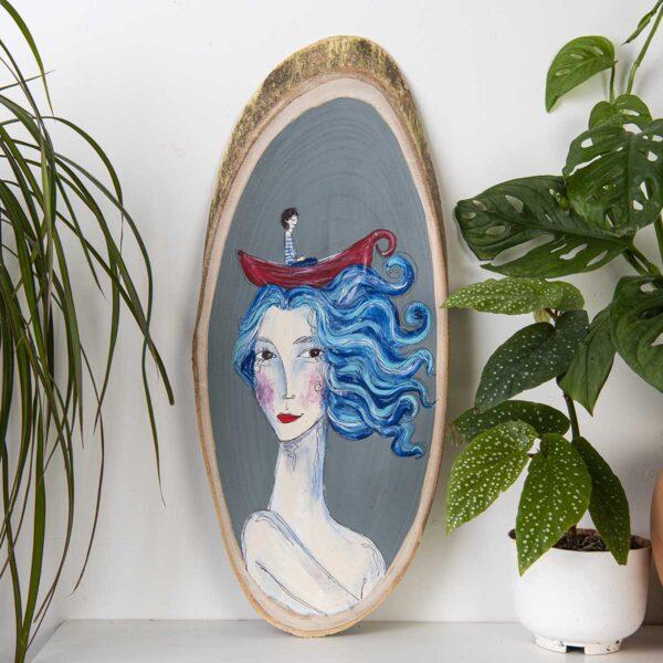 Duvar Panosu – Saçlarım Deniz