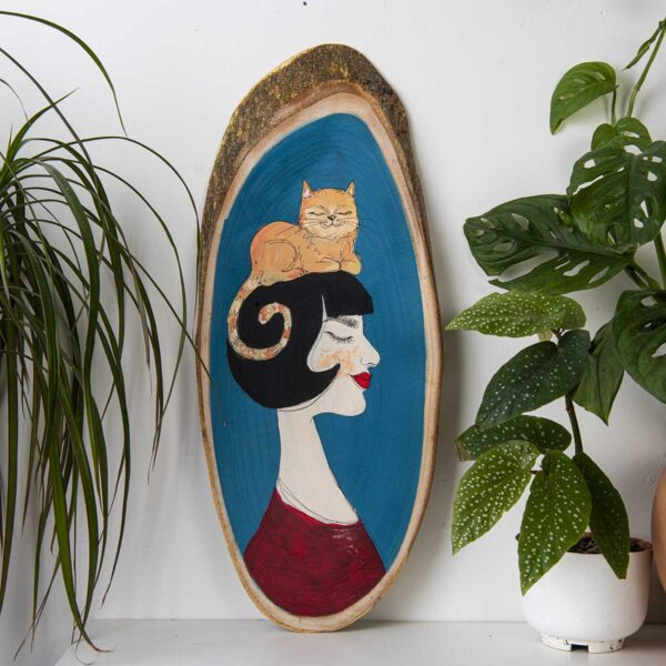 Duvar Panosu – The woman with the cat
