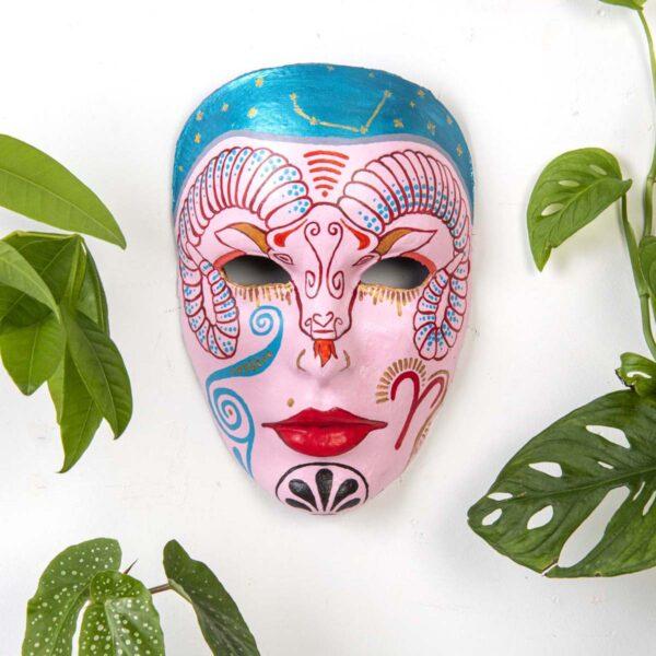 Duvar Dekoru Maske – Koç Burcu
