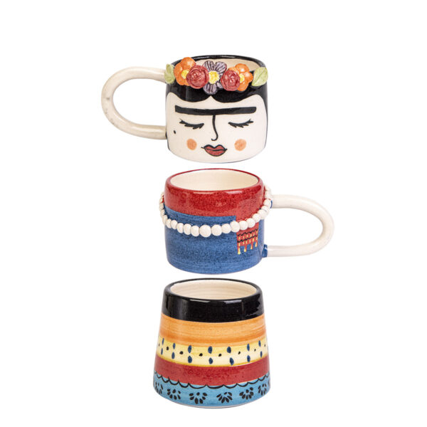 Seramik Kahve Takımı – Frida – 3 parça