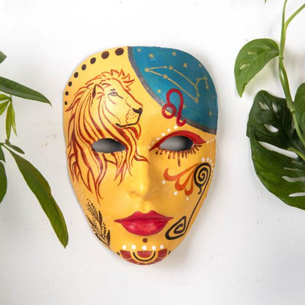 Duvar Dekoru Maske – Aslan Burcu
