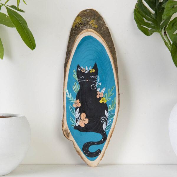 Duvar Panosu – Cat in Flowers