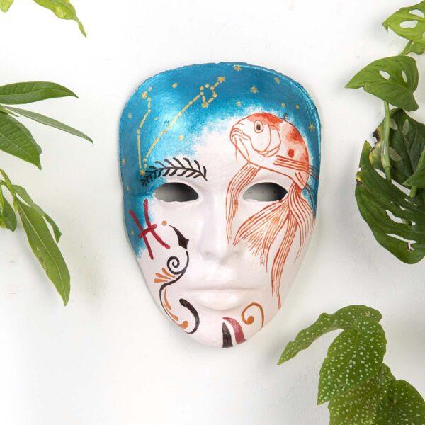 Duvar Dekoru Maske – Balık Burcu