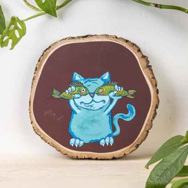 Duvar Panosu – Muzip Kedi