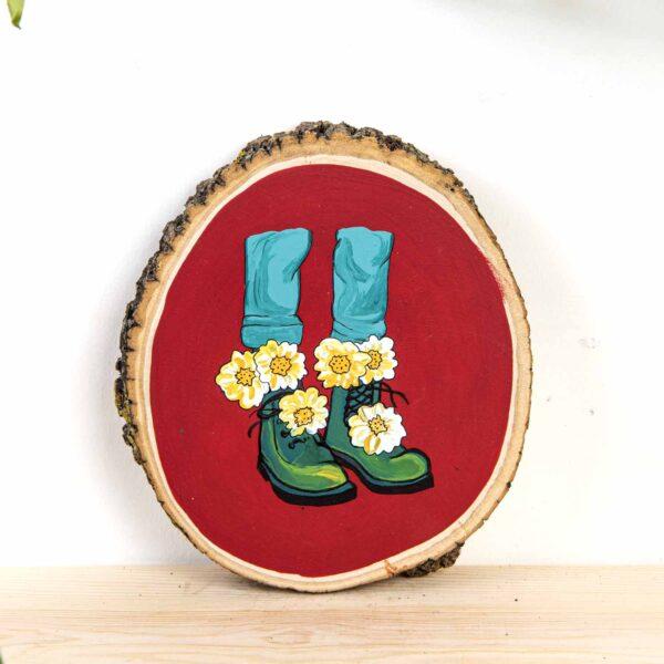 Duvar Panosu – Flowers on my boots