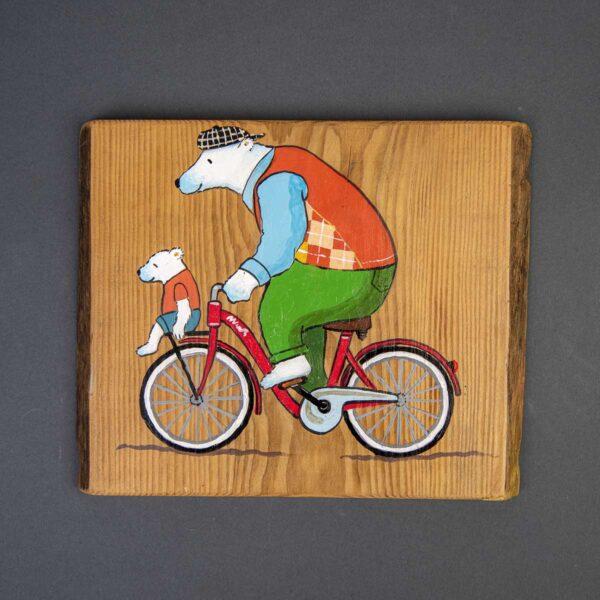 Ağaç Duvar Panosu – Bisiklet Gezisi