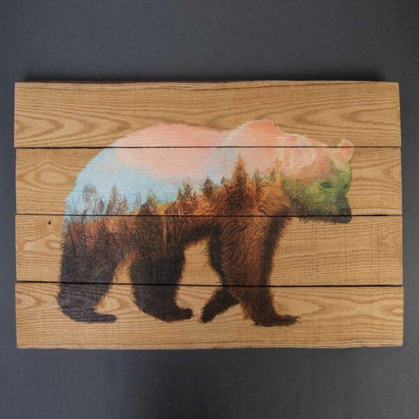 Büyük Boy Ağaç Duvar Panosu – The Bear