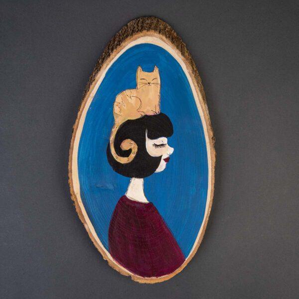 Duvar Panosu – The girl with the cat