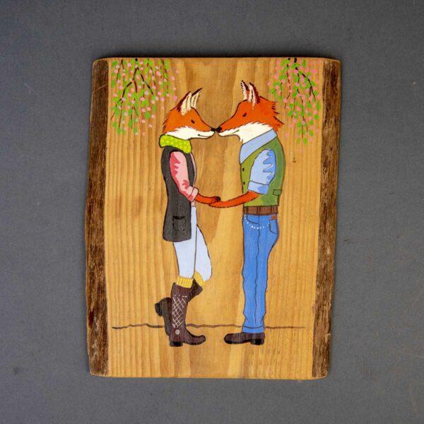 Ağaç Duvar Panosu – Fox Love