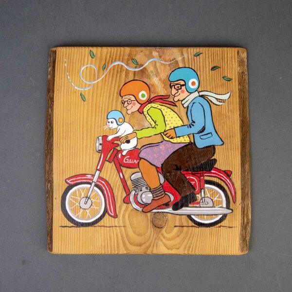 Ağaç Duvar Panosu – Motosiklet Gezisi