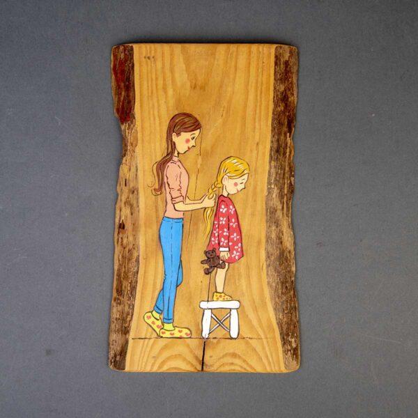 Ağaç Duvar Panosu – Kızımla