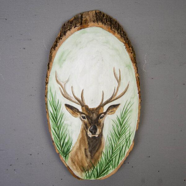 Sulu boya Duvar Panosu – Geyik