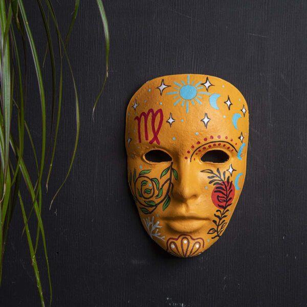 Duvar Dekoru Maske – Başak Burcu