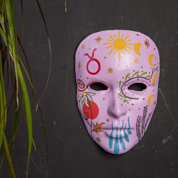 Duvar Dekoru Maske – Boğa Burcu