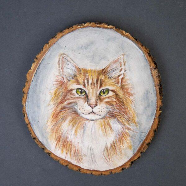 Sulu boya Duvar Panosu – Sarı Kedi
