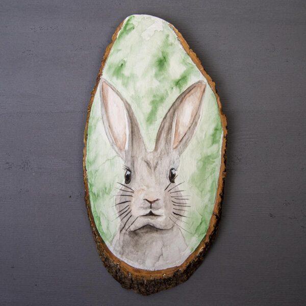 Sulu boya Duvar Panosu – Tavşan
