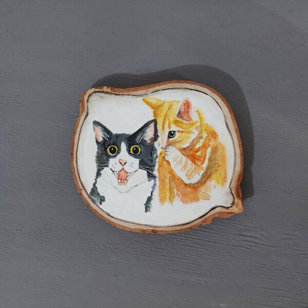 Sulu boya Duvar Panosu – Kediler