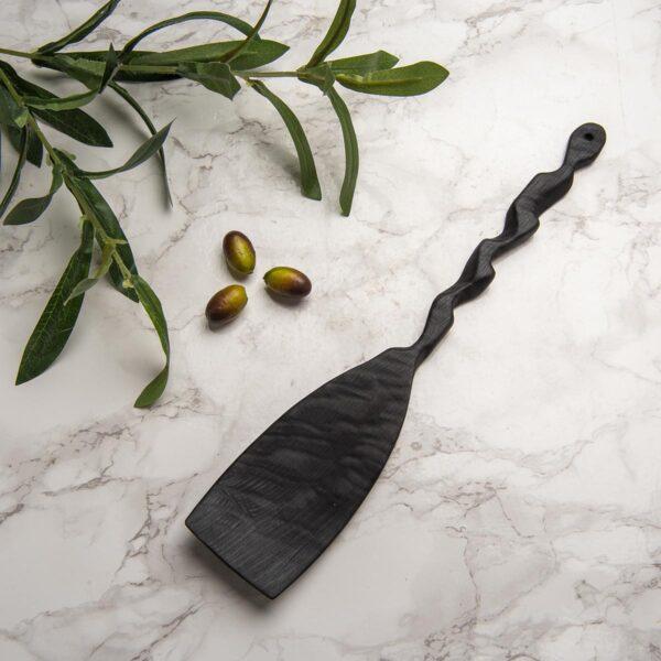Ağaç Spatula – Zeytin – Shou Sugi Ban